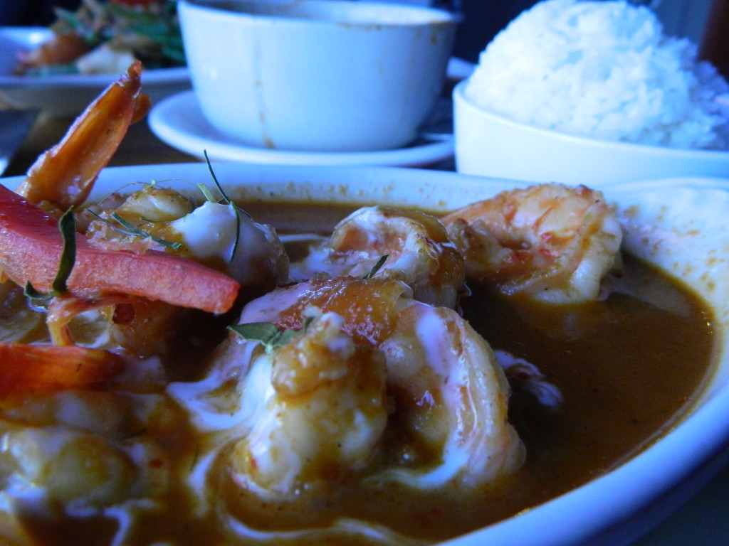 Shrimp and peanut curry at Thai Tanic.