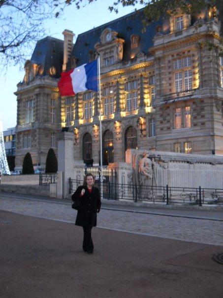 Standing at the Hôtel de Ville in Versailles
