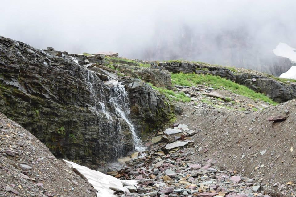Hidden Lake Waterfall