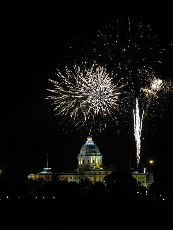 Fireworks at the Minnesota Capitol