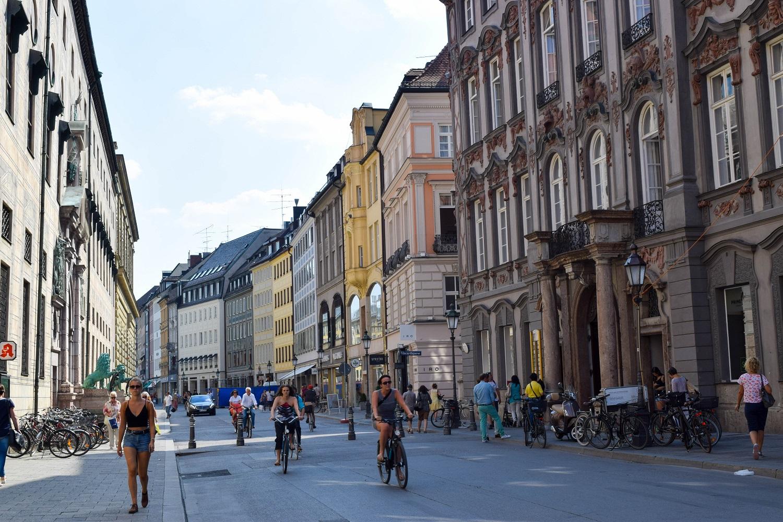 Curved Munich Street