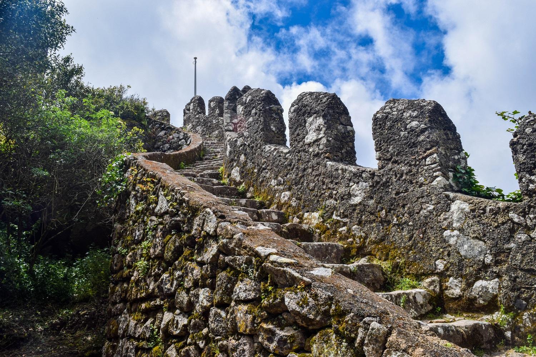 Castle tower steps Castleo dos Mouros